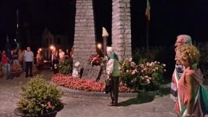 Der 92-jährige Giuliano Giordano, Präsident der Partisanenvereinigung ANPI, ehrt seine gefallenen Kameraden anlässlich des Jahrestages des Waffenstillstandes vom 8. September 1943, mit dem Italien aus dem 2. Weltkrieg ausschied und dafür von Wehrmacht